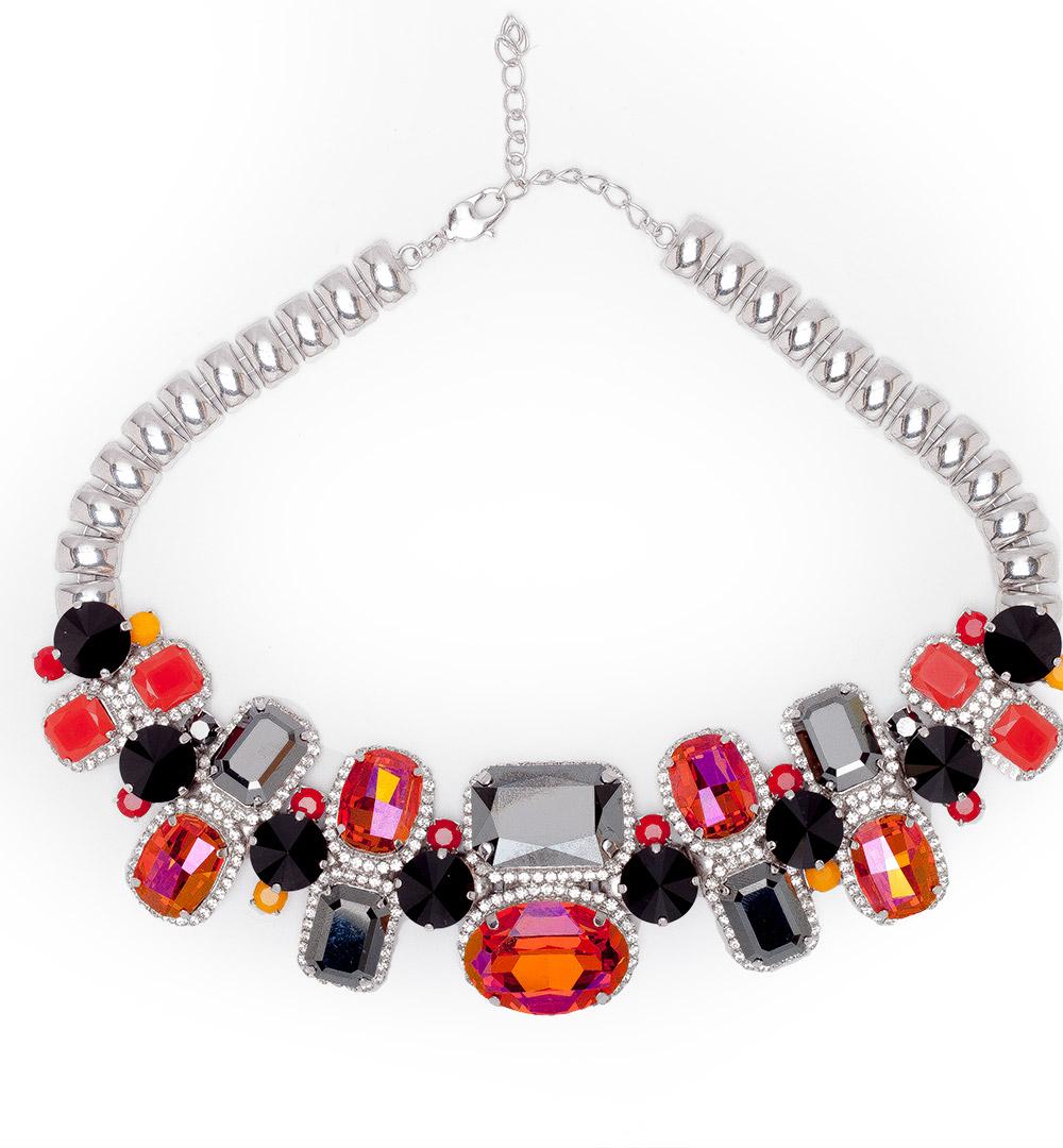 Necklace 09-K 1066b-blackorange