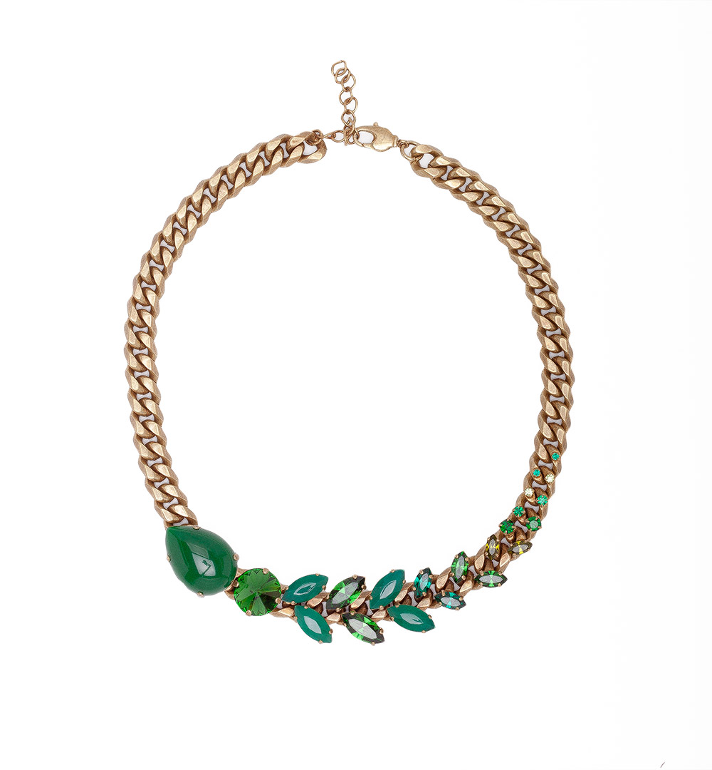 Necklace 08-K 1194-green