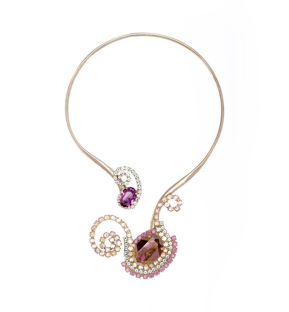 Necklace 01-K 1009-purplegreen