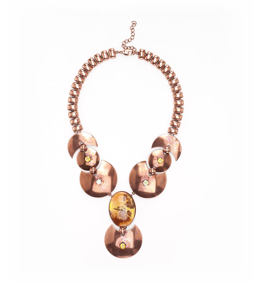 Necklace 17-K 1229-pinkgold