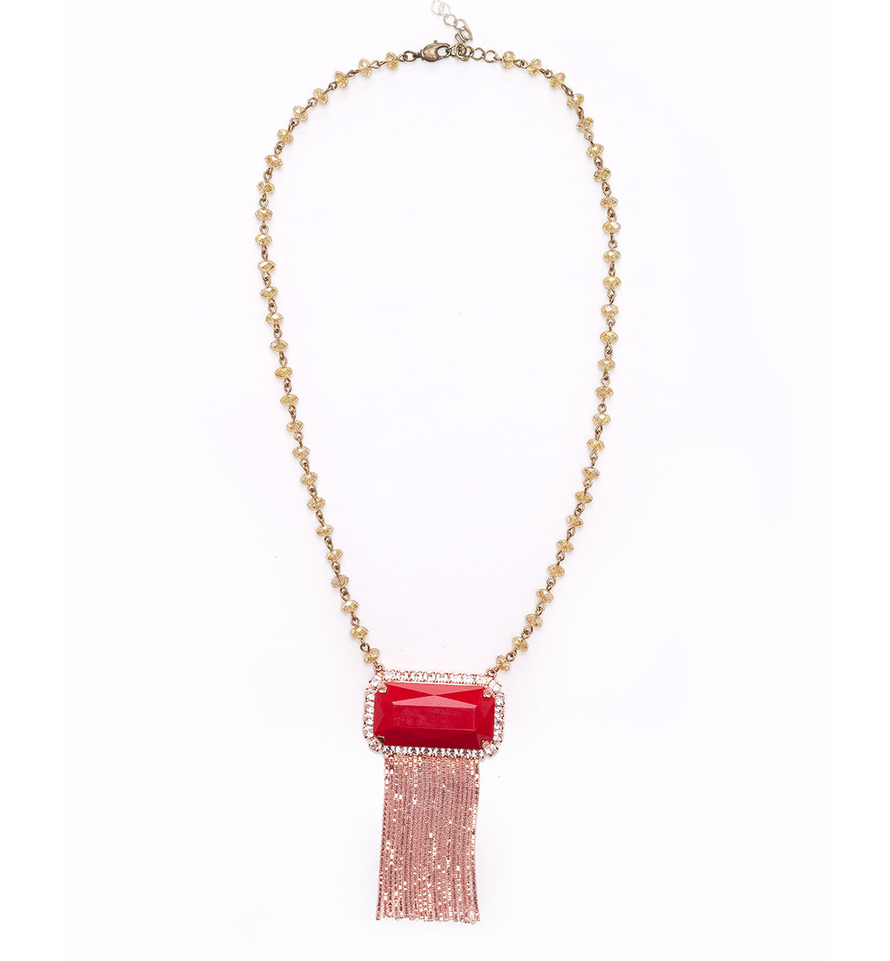 Necklace 07-K 1211-redpinkgold