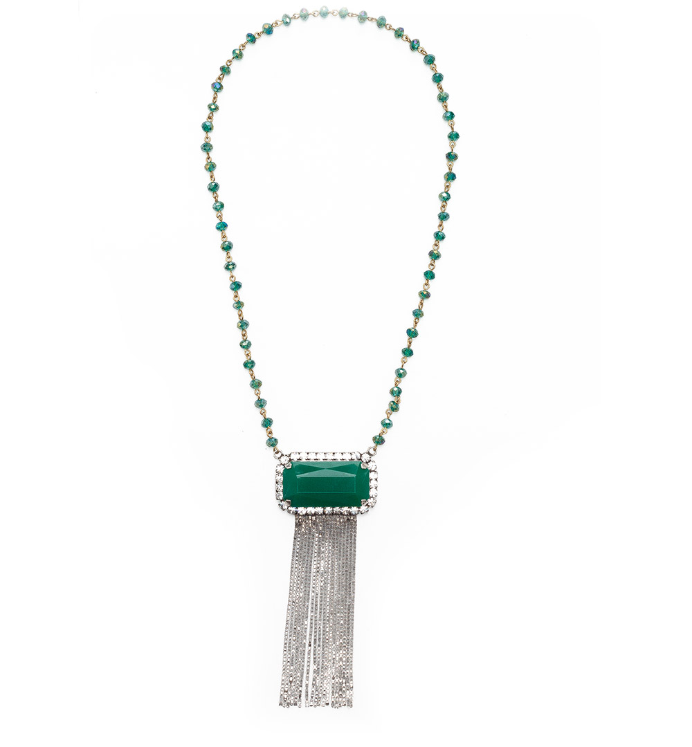 Necklace 06-K 1211-greensilver