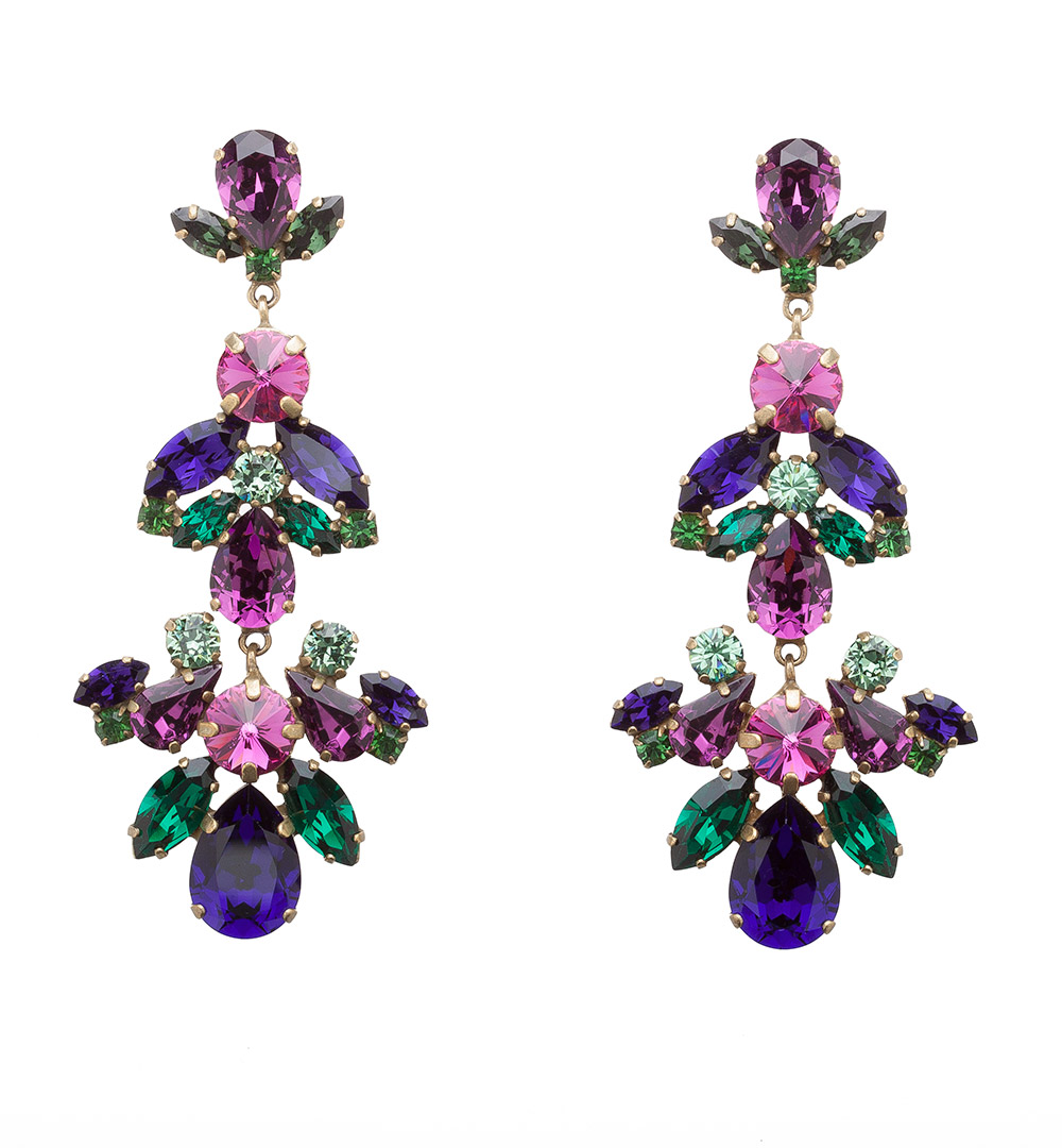 Earring 71 S 1243-purplegreen