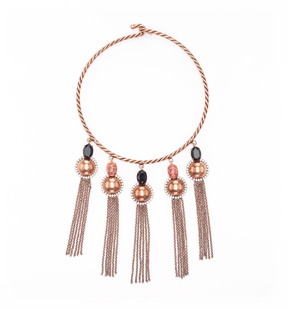 Necklace 13-K 1203-pinkgold